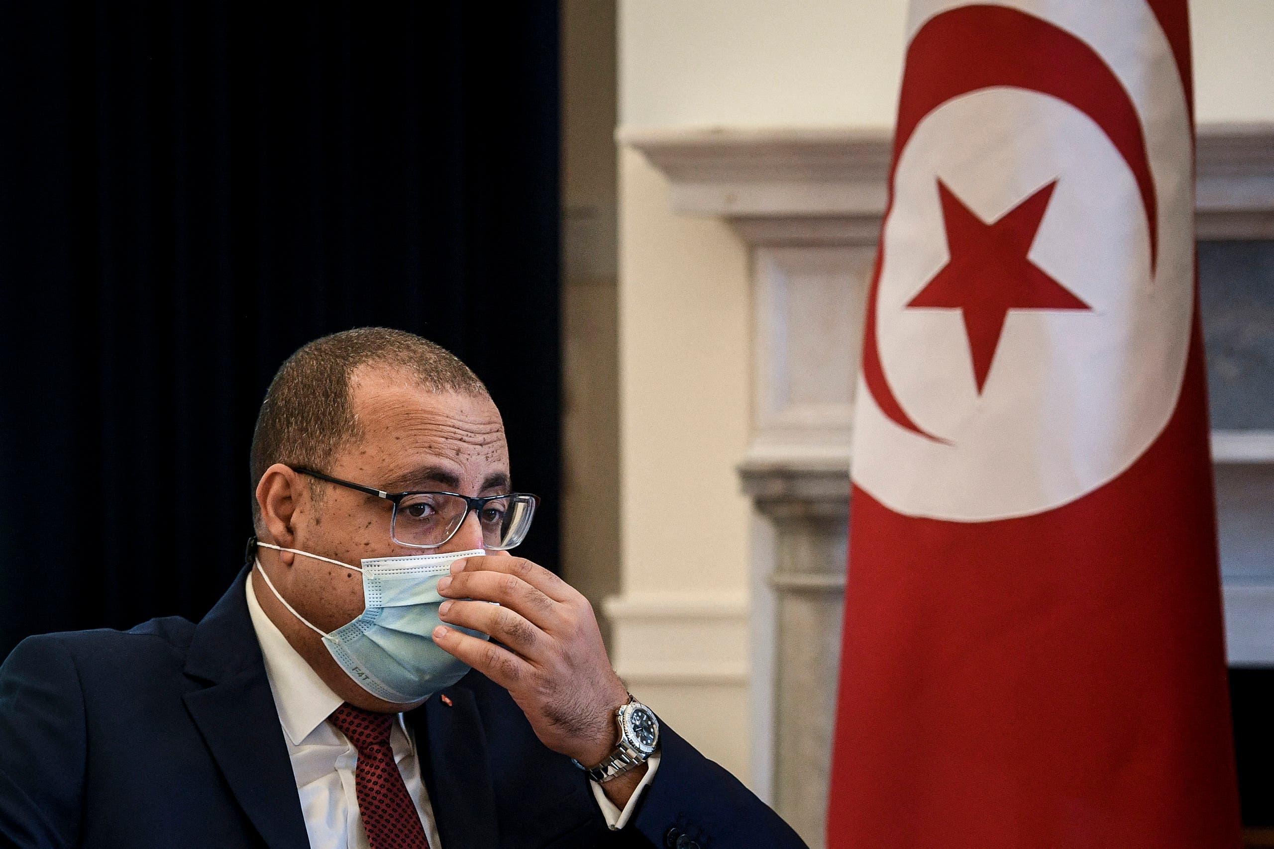 هشام المشيشي رئيس الحكومة التونسية المقال(أرشيفية- فرانس برس)