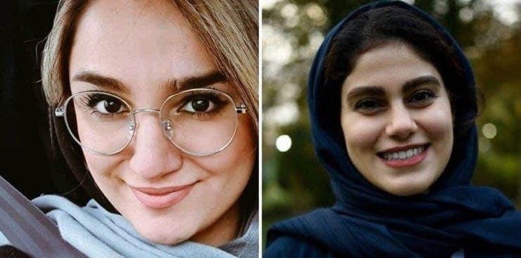 مهشاد کریمی (سمت راست) و ریحانه یاسینی (سمت چپ) دو خبرنگار کشته شده در حادثه واژگونی اتوبوس