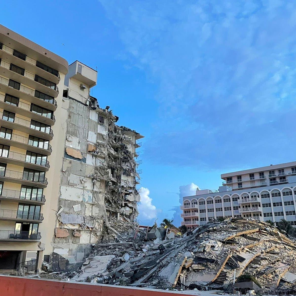 ارتفاع حصيلة انهيار مبنى في فلوريدا إلى 9 قتلى