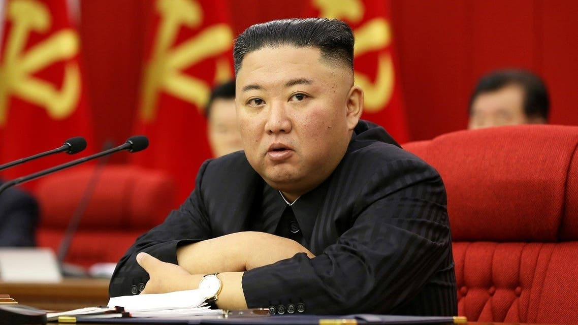 North Korean leader Kim Jong Un speaks during the 3rd Plenary Meeting of 8th Central Committee of the Workers' Party of Korea in Pyongyang, North Korea in this image released June 18, 2021 by the country's Korean Central News Agency. (KCNA via Reuters)