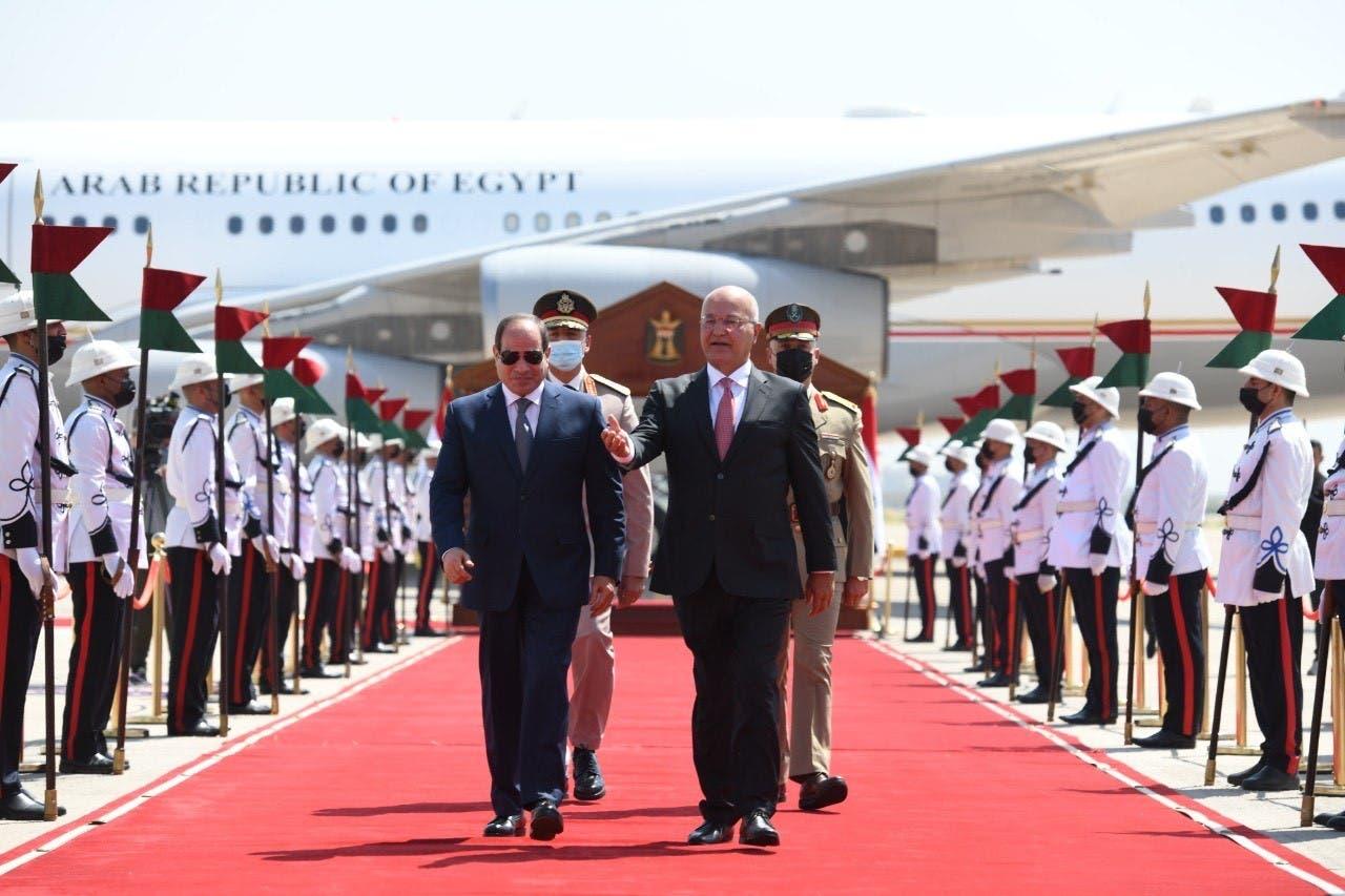 السيسي يصل إلى بغداد