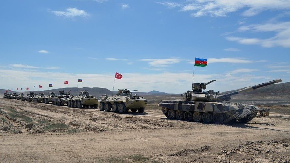 A photograph released by the Azeri defense ministry. (Twitter)