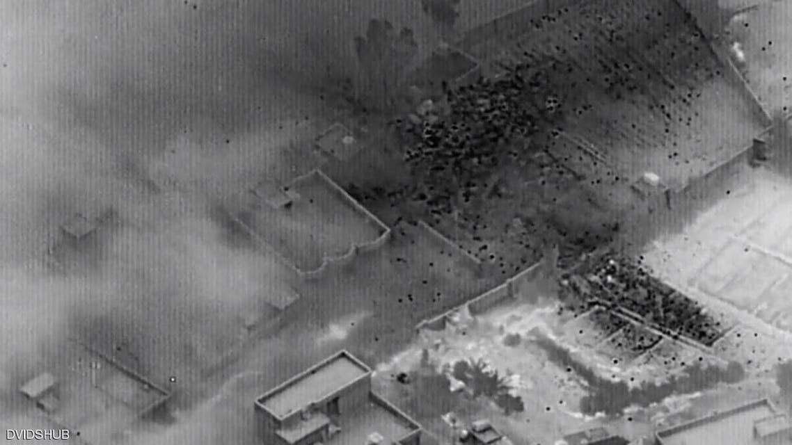 صورة من الضربة الأميركية الأخيرة على مواقع الحشد