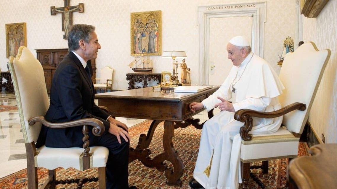 دیدار آنتونی بلینکن و پاپ فرانسیس