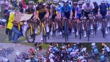 ٹور ڈی فرانس : خاتون تماشائی کے سبب سائیکل ریس میں بدترین حادثہ