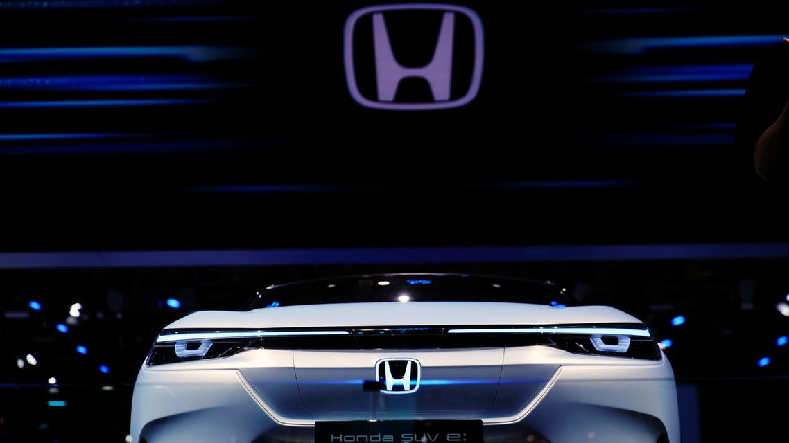 A Honda SUV e:Prototype electric vehicle (EV) is seen displayed during a media day for the Auto Shanghai show in Shanghai, China April 20, 2021. (Reuters)