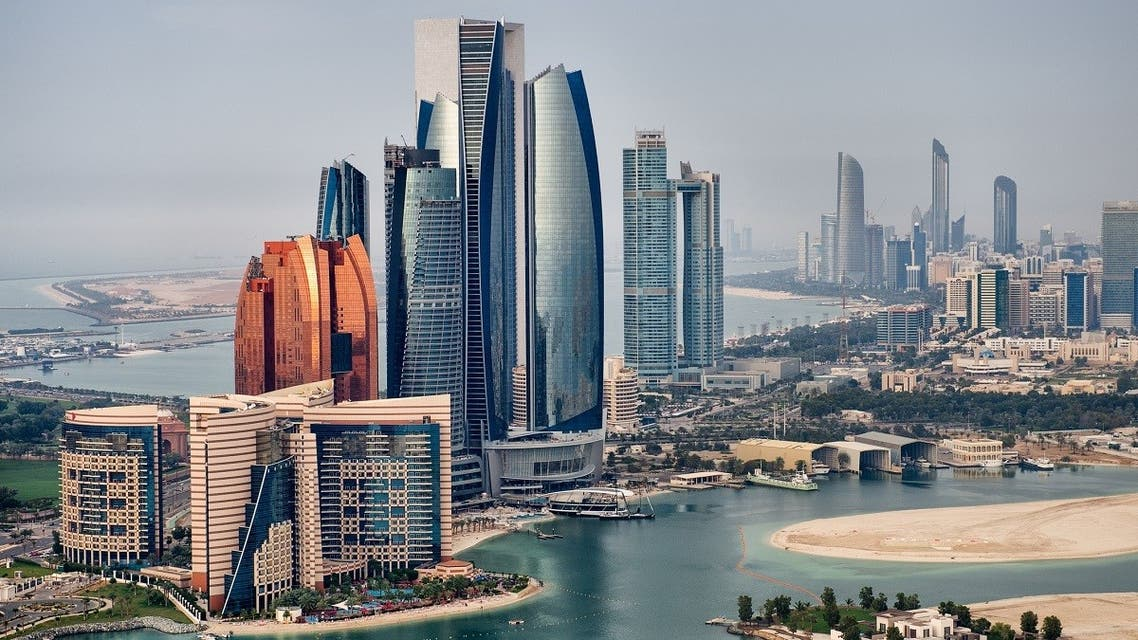 Helicopter point of view of Abu Dhabi skyline with surrounding area. (EXTREME-PHOTOGRAPHER via iStock)