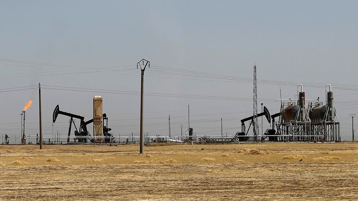 This July 30, 2017 photo, shows the al-Omar oil field. (AP)