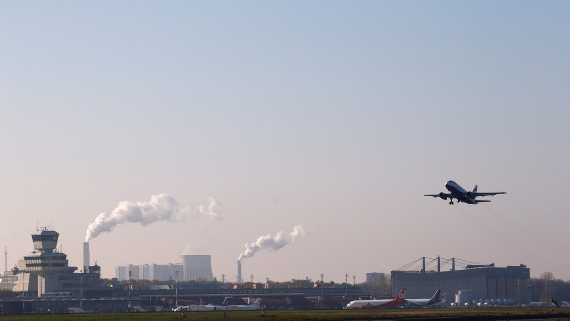 A British Airways plane takes off from Berlin's Tegel airport, which closes permanently following the recent opening of the new Berlin-Brandenburg (BER) airport, in Berlin, Germany, November 7, 2020. (Reuters)