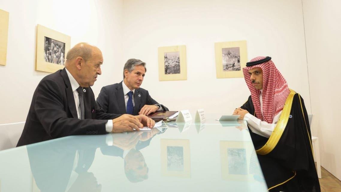 اللقاء الثلاثي من صفحة الخارجية السعودية على تويتر