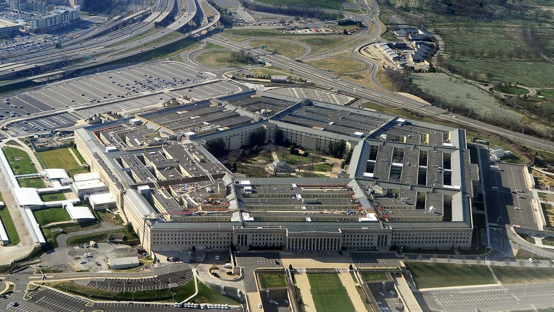 This file photo shows the Pentagon building in Washington, DC. The Pentagon announced Sunday it had conducted targeted air strikes against facilities used by Iran-backed militia groups on the Iraq-Syria border, which it said were authorized by President Joe Biden following ongoing attacks on US interests. (AFP)