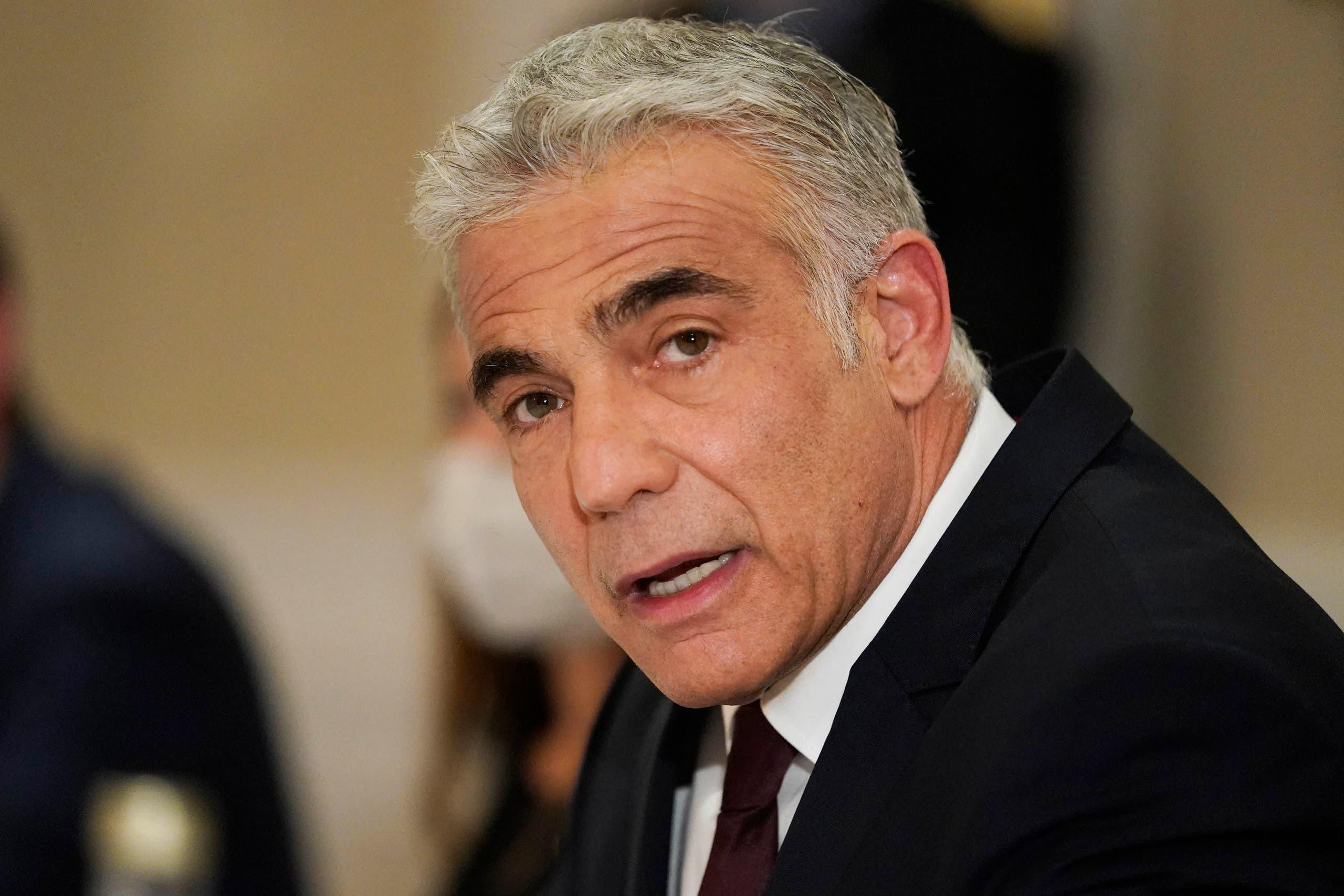 وزير الخارجية الإسرائيلي، يائير لابيد(أرشيفية- فرانس برس)