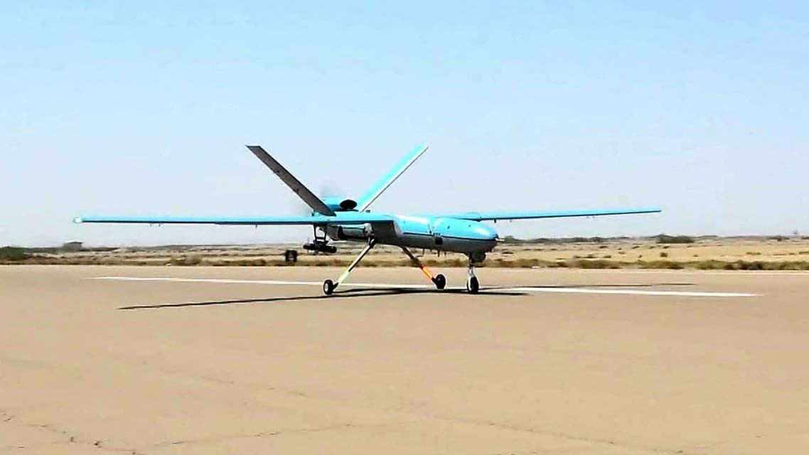 A handout picture provided by the Iranian Army's official website on September 11, 2020, shows an Iranian Simorgh drone during the second day of a military exercise in the Gulf, near the strategic strait of Hormuz in southern Iran. The Iranian navy began on September 10 a three-day exercise in the Sea of Oman near the strategic Strait of Hormuz, deploying an array of warships, drones and missiles. One of the exercise's objectives is to devise tactical offensive and defensive strategies for safeguarding the country's territorial waters and shipping lanes, the military said on its website.