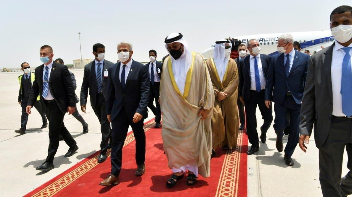 وزير الخارجية الإسرائيلي يصل أبو ظبي (رويترز)