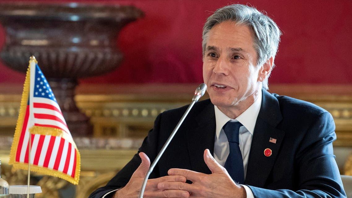 وزير الخارجية الأميركي أنتوني بلينكين في روما (رويترز)