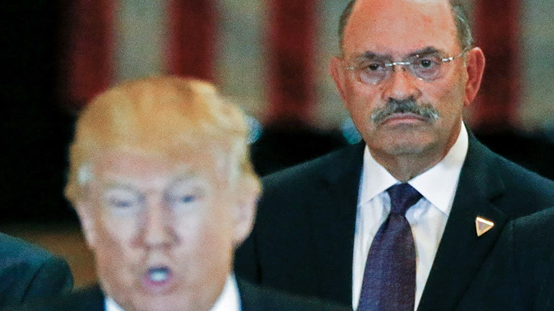 FILE PHOTO: Trump Organization chief financial officer Allen Weisselberg looks on as then-U.S. Republican presidential candidate Donald Trump speaks during a news conference at Trump Tower in Manhattan, New York, US, May 31, 2016. (File Photo: Reuters)