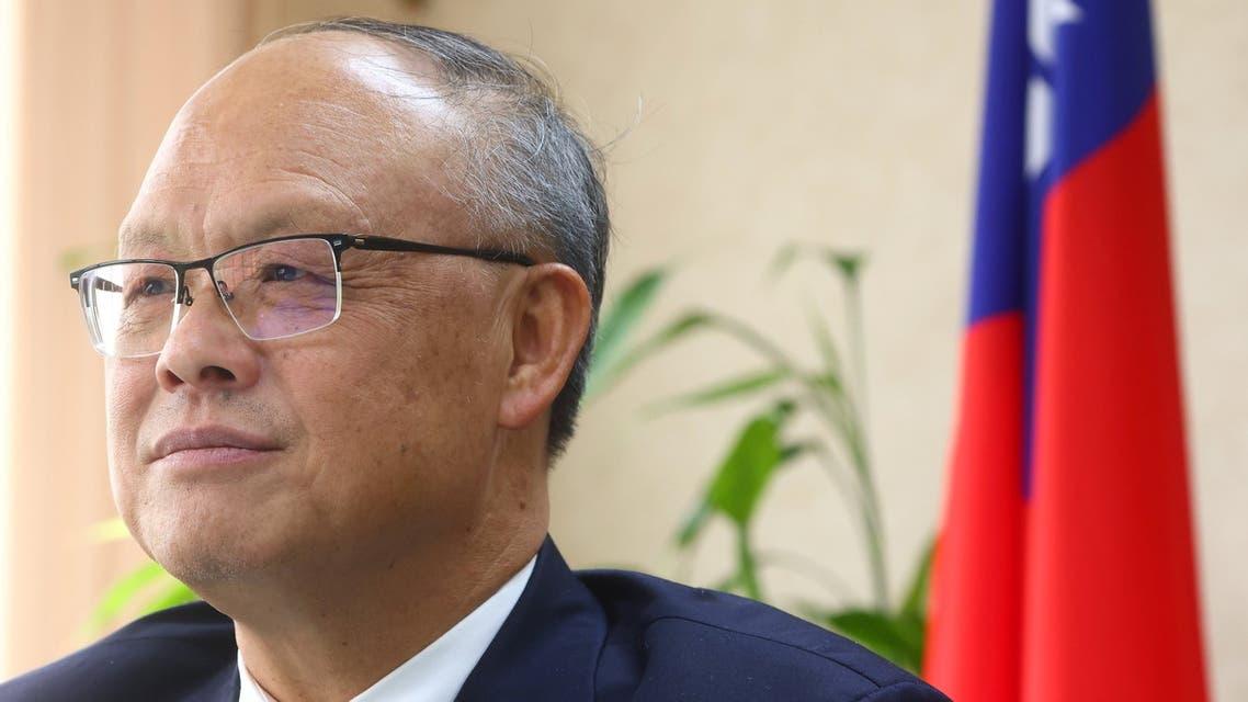 Taiwan's Chief trade negotiator John Deng looks on as he speaks to the media in Taipei, Taiwan, January 22, 2021. (Reuters)