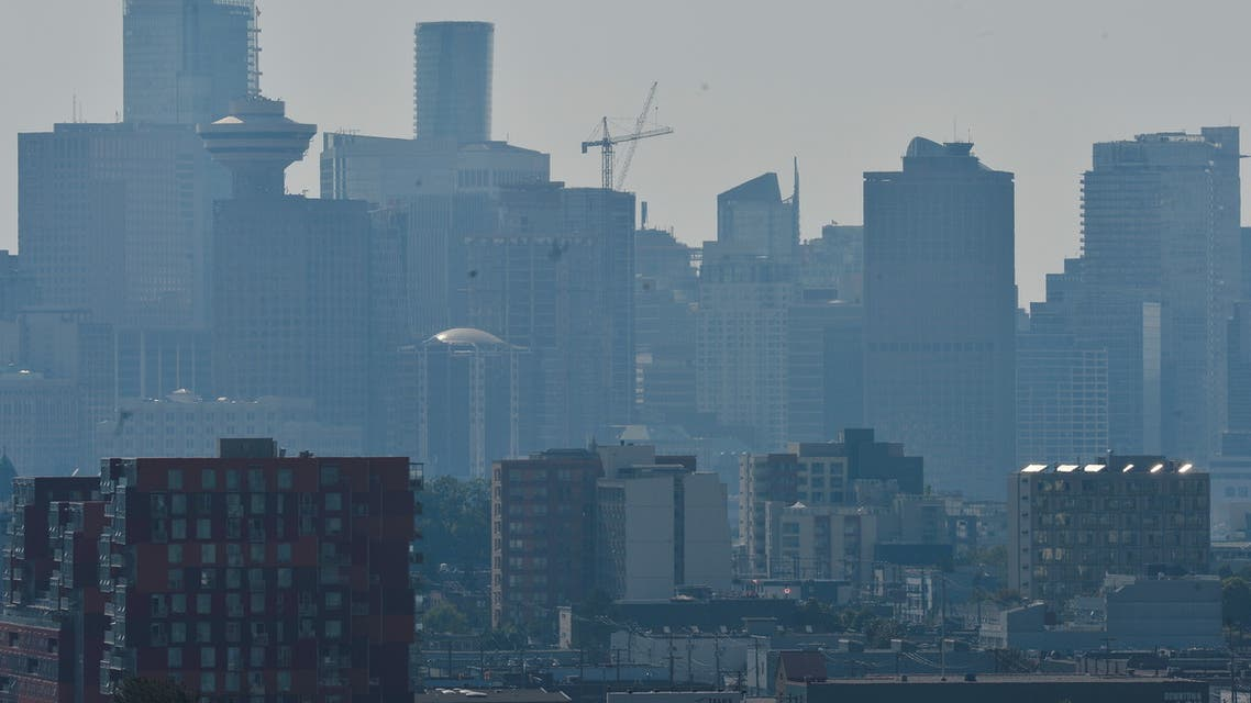 A view of the city after the scorching weather triggered an Air Quality Advisory in Vancouver, British Columbia, Canada June 28, 2021. (Reuters)