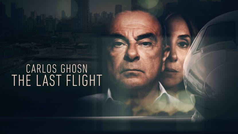 Carlos Ghosn: The Last Flight showcases the full story of Ghosn, the former CEO of the Renault-Nissan Alliance. (Offiial film poster)