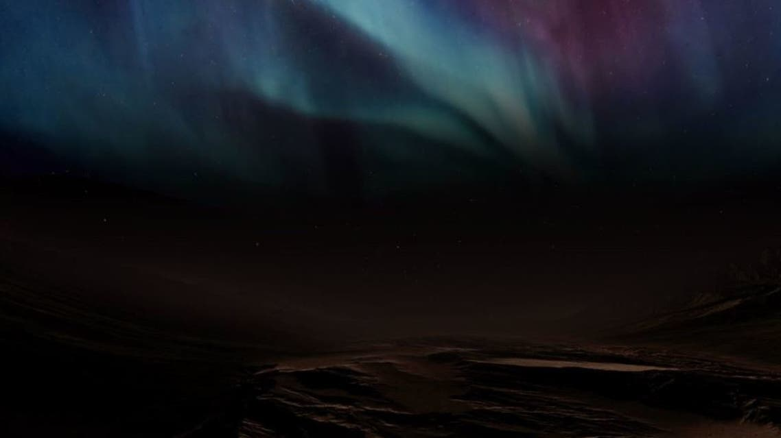 The Mars discrete aurora as pictured by the UAE Hope Probe. (Twitter)