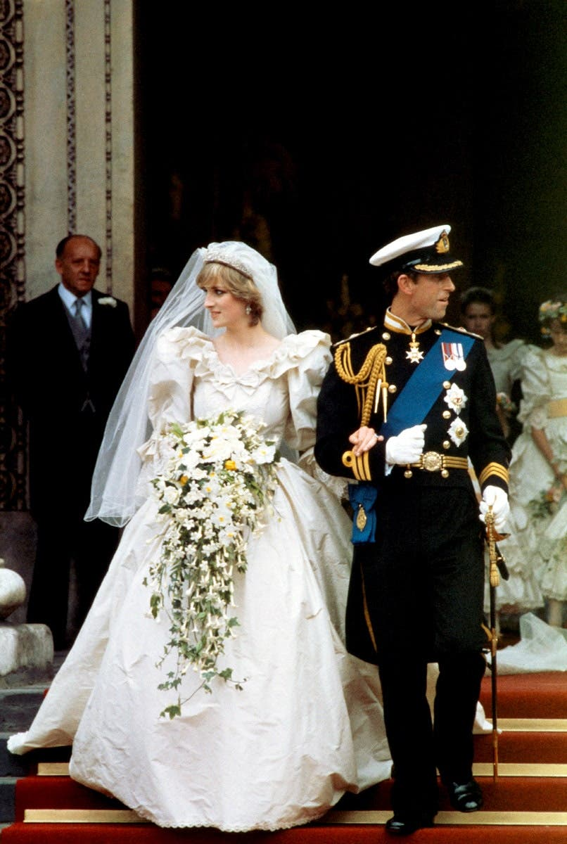ديانا تشارلز يوم زفافهما