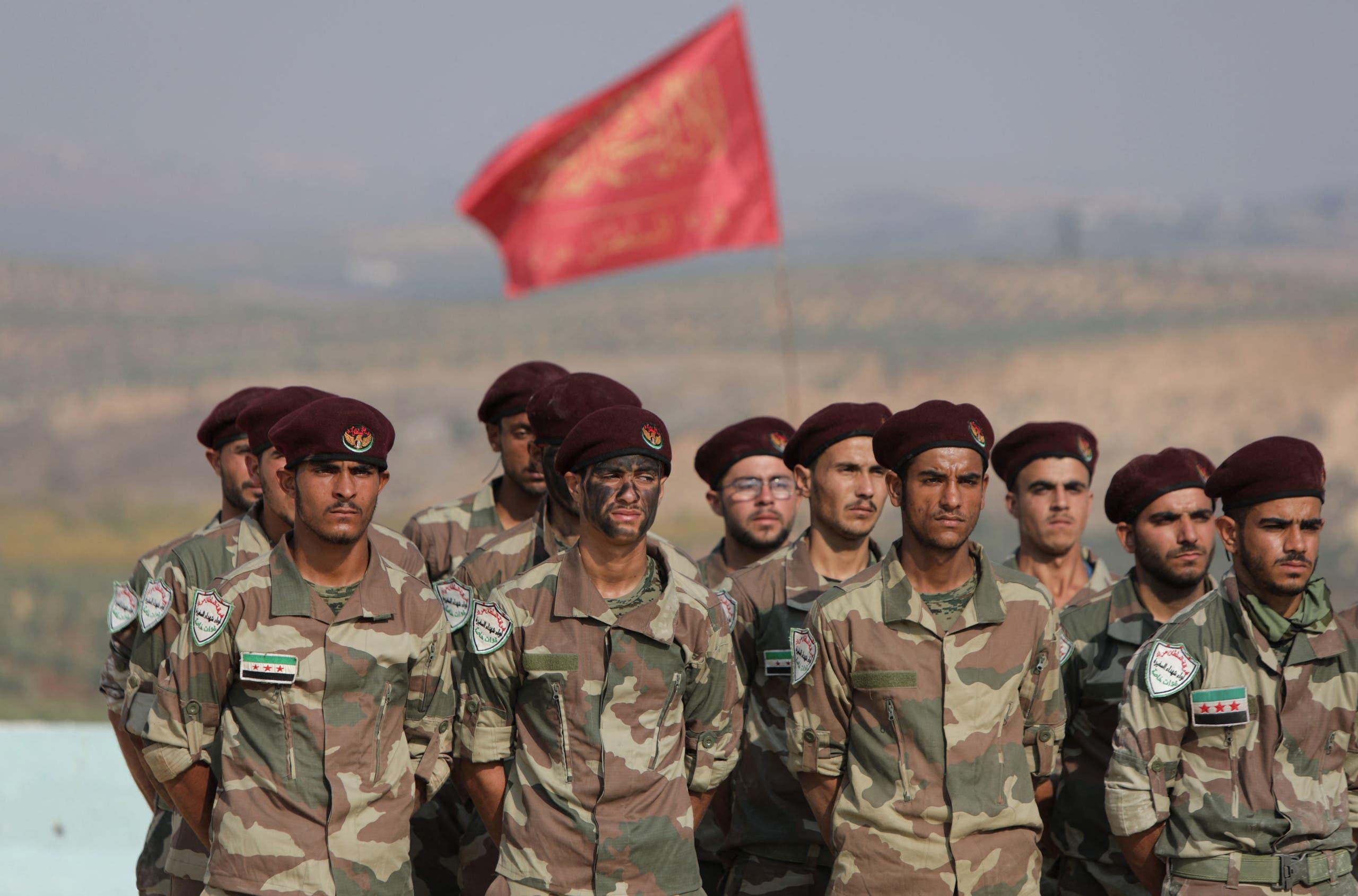 قوات موالية لتركيا في عفرين (أرشيفية)