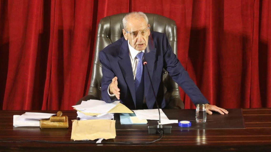 Lebanese Parliament Speaker Nabih Berri heads a legislative session at UNESCO Palace in Beirut. (File photo: Reuters(