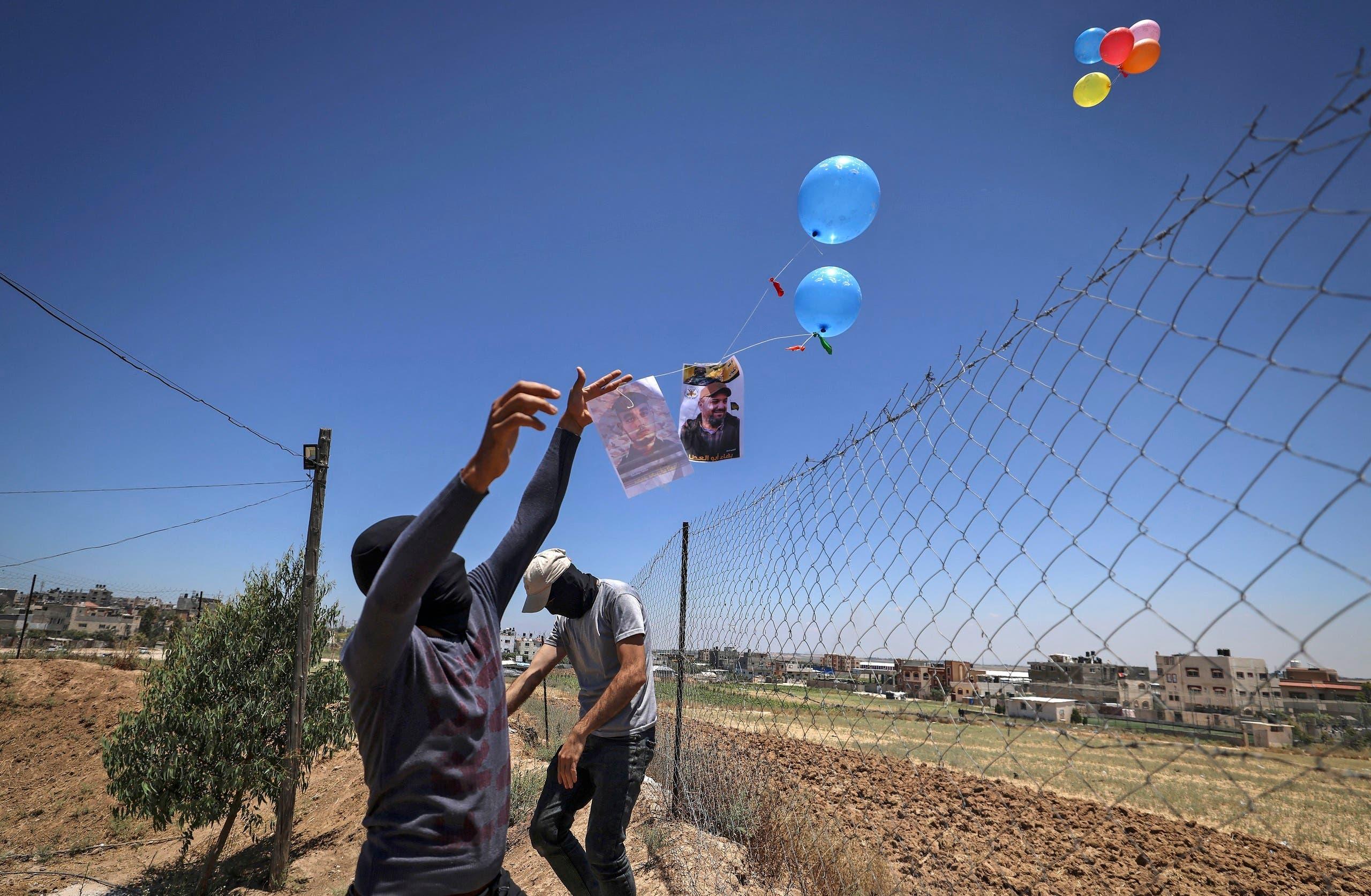 إطلاق بالونات حارقة من غزة (أرشيفية)
