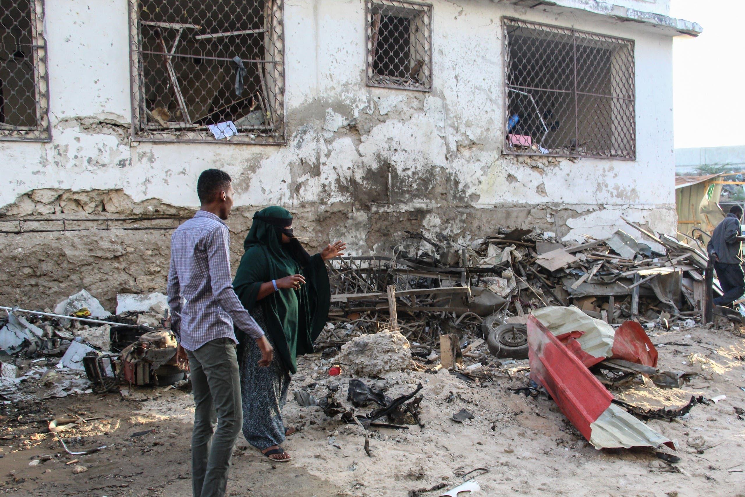 تفجير سابق في مقديشو في يناير الماضي