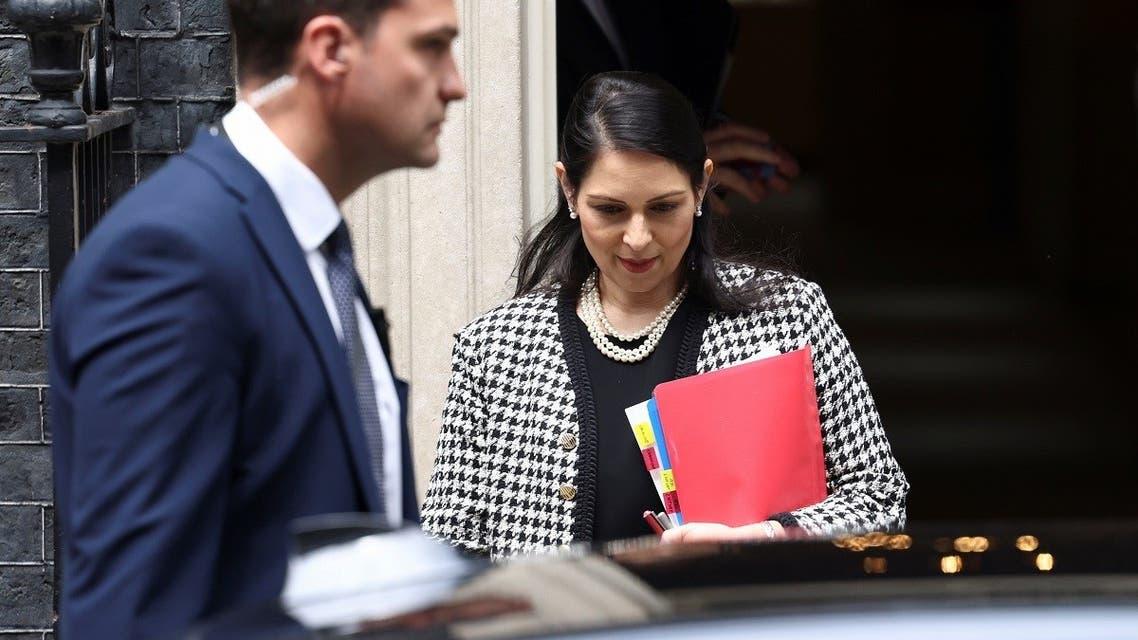 Britain's Home Secretary Priti Patel leaves number 10 Downing Street, London, Britain, on June 24, 2021. (Reuters)