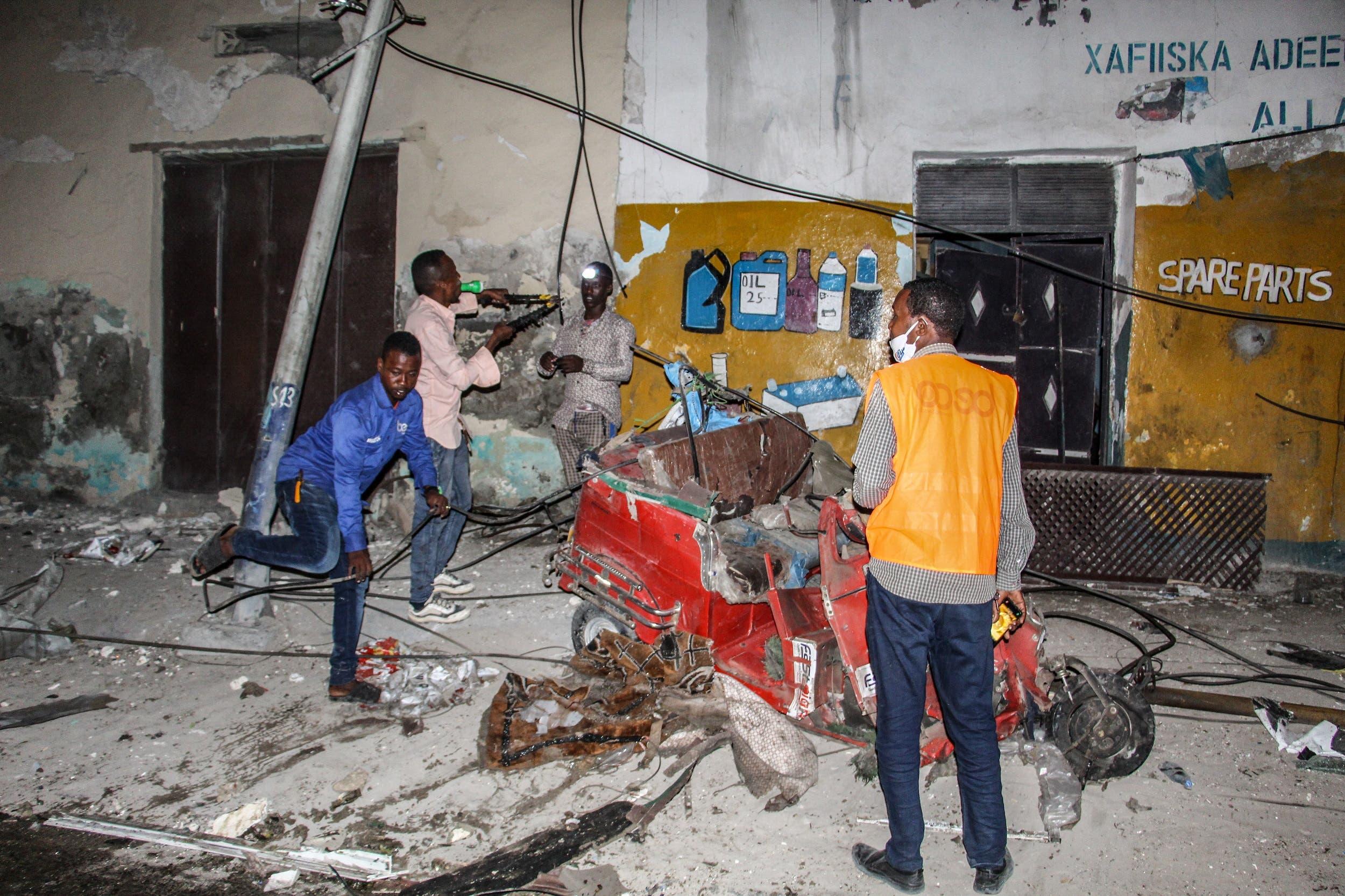 تفجير سابق في مقديشو في مارس الماضي
