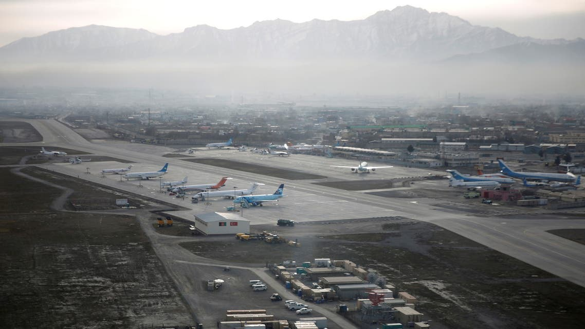 An aerial view of the Hamid Karzai International Airport in Kabul, previously known as Kabul International Airport, in Afghanistan, February 11, 2016. (Reuters)
