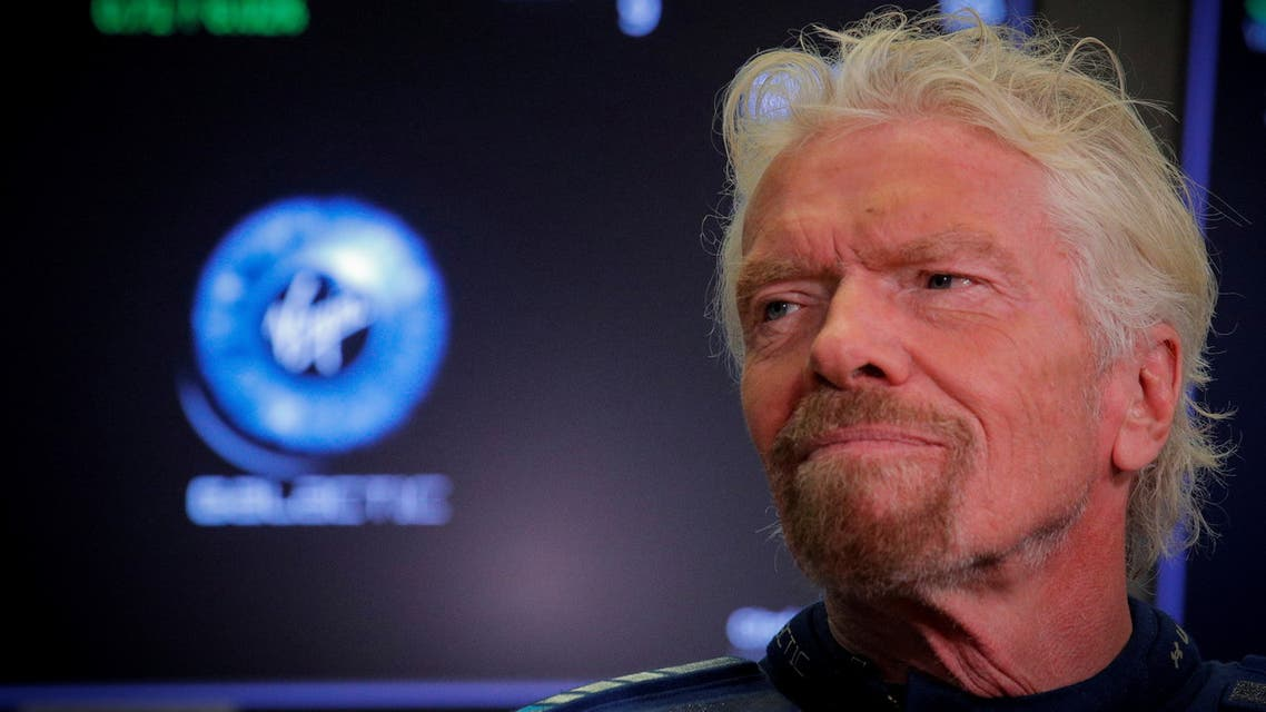 Sir Richard Branson stands on floor of the NYSE as Virgin Galactic (SPCE) begins public trading in New York. (Reuters)