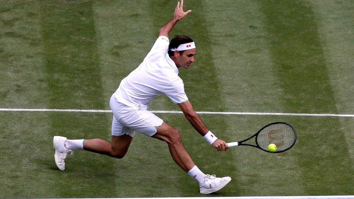 Switzerland's Roger Federer in action during his third round match against Britain's Cameron Norrie. (Reuters)