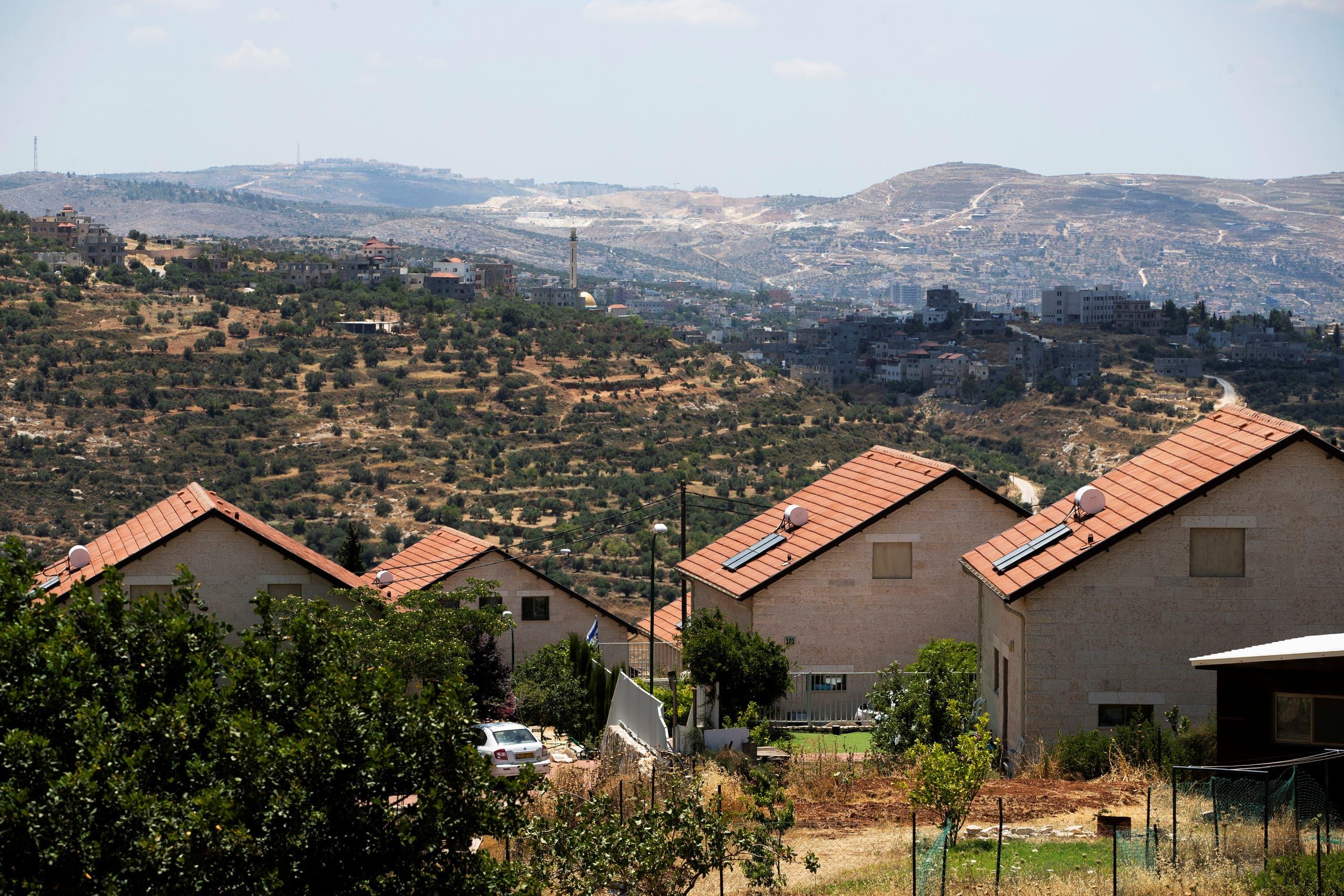 منازل في مستوطنة قرب نابلس (أرشيفية)