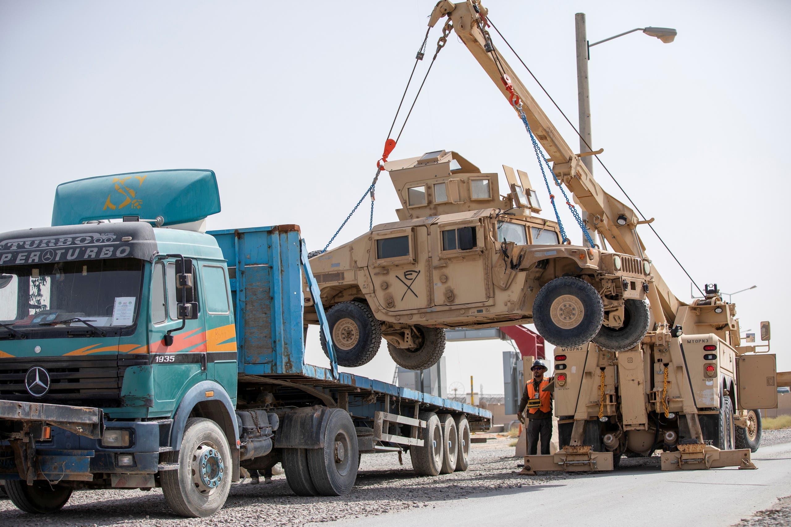 خروج الجيش الأميركي من قاعدة ة باغرام