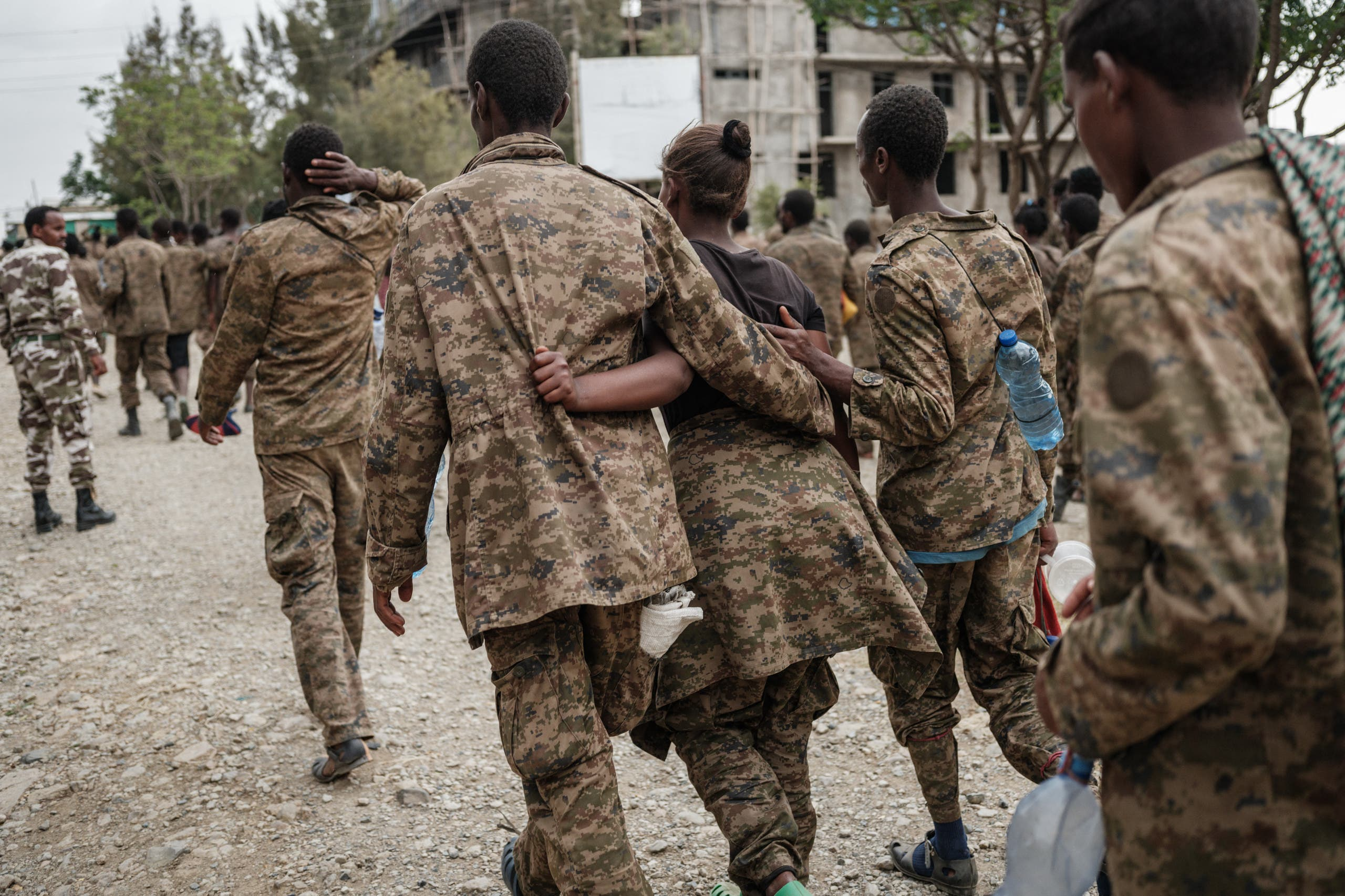 Ethiopian Federal Army soldiers captured by the Tigray Liberation Front during battles (archive)