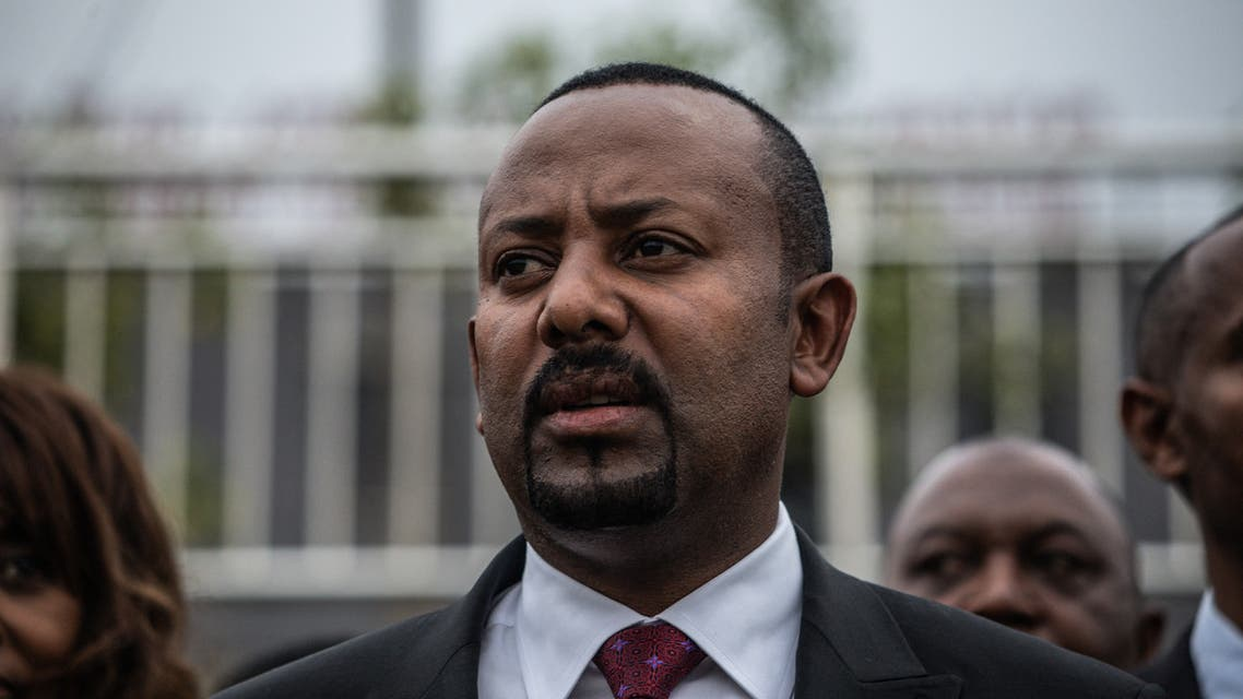 Prime Minister of Ethiopia Abiy Ahmed arrives for the Meskel Square inauguration in Addis Ababa on June 13, 2021.