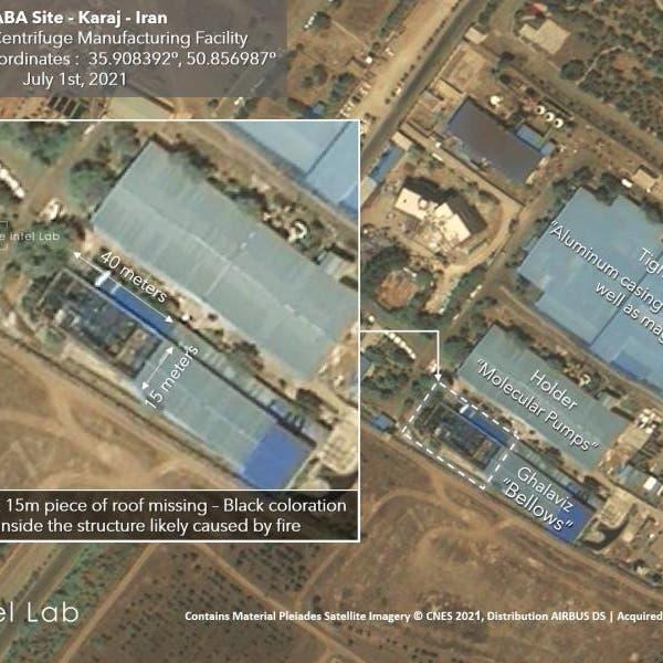 صور جوية تكذّب إيران.. أضرار بمركز نووي