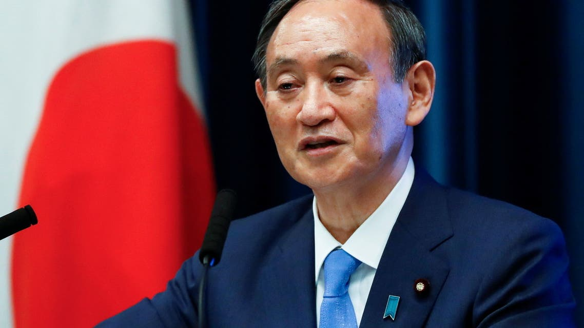 Japan's Prime Minister Yoshihide Suga attends a news conference on Japan's response to the coronavirus disease (COVID-19) outbreak, at his official residence in Tokyo, Japan, June 17, 2021. (Reuters)