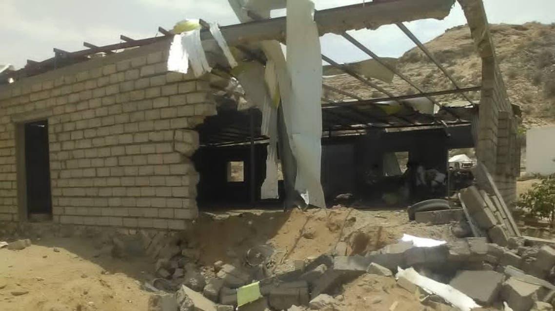 صورة متداولة لموقع الهجوم الحوثي على معسكر الجيش اليمني في أبين