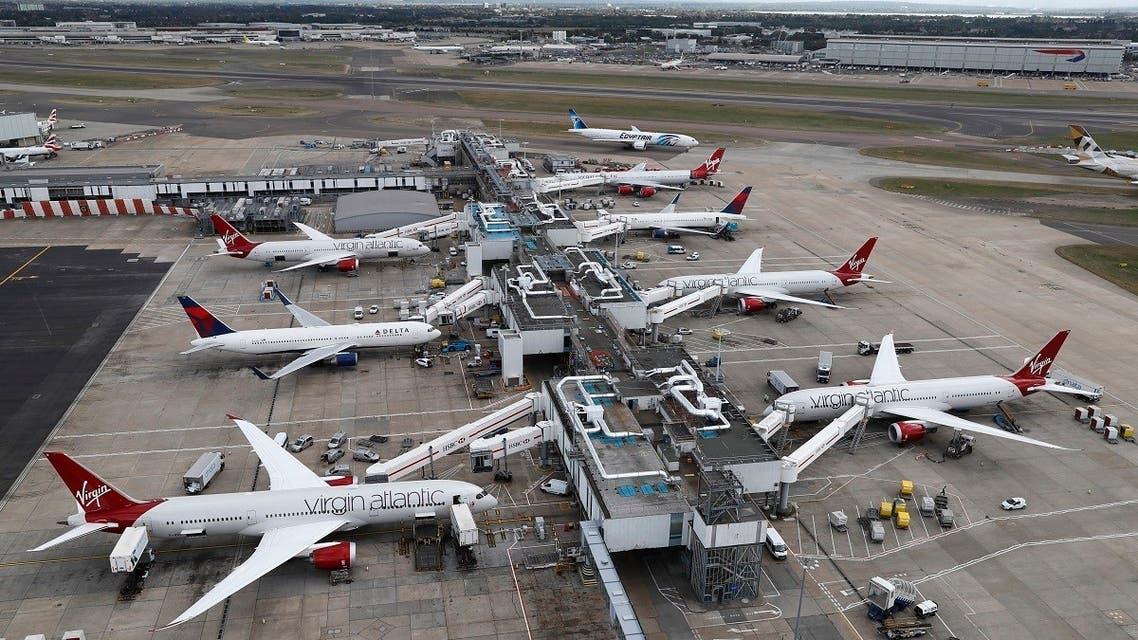 A general view of Terminal 3 at Heathrow Airport near London, Britain. (Reuters)