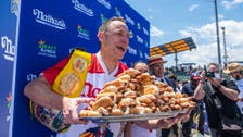 Watch: Joey Chestnut sets record at Fourth of July hotdog eating contest