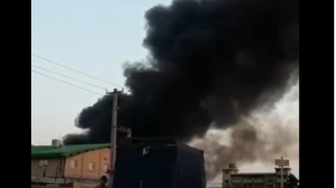 حريق في طهران