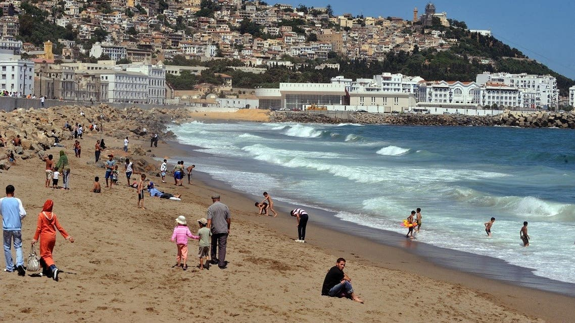 A file photo shows people enjoying Bab El-Ouad beach during a national beaches campaign, on May 28, 2009 in Algiers. (Fayez Nureldine/AFP)