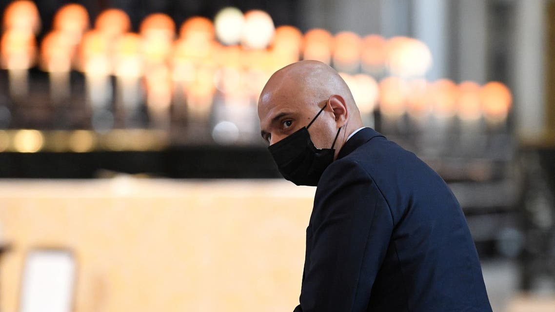 Britain's new Health Secretary Sajid Javid attends a thanksgiving service to celebrate the NHS' birthday, in St Paul's Cathedral in London, Britain, July 5, 2021. (Reuters)