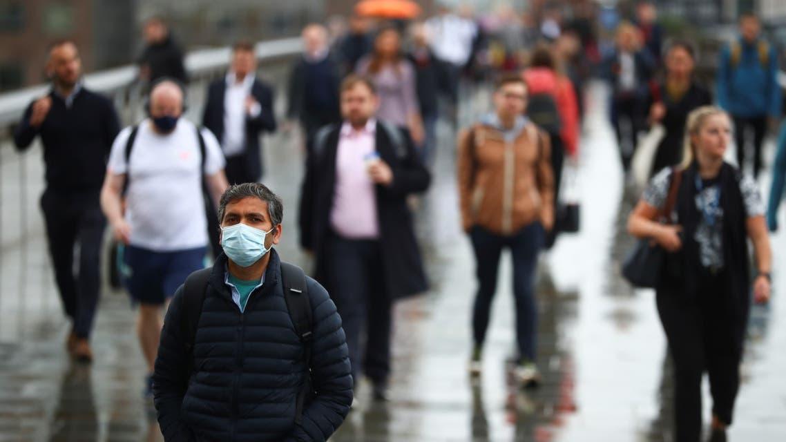Commuters cross the London Bridge, amid the spread of the coronavirus disease (COVID-19), in London, Britain July 6, 2021. (Reuters)