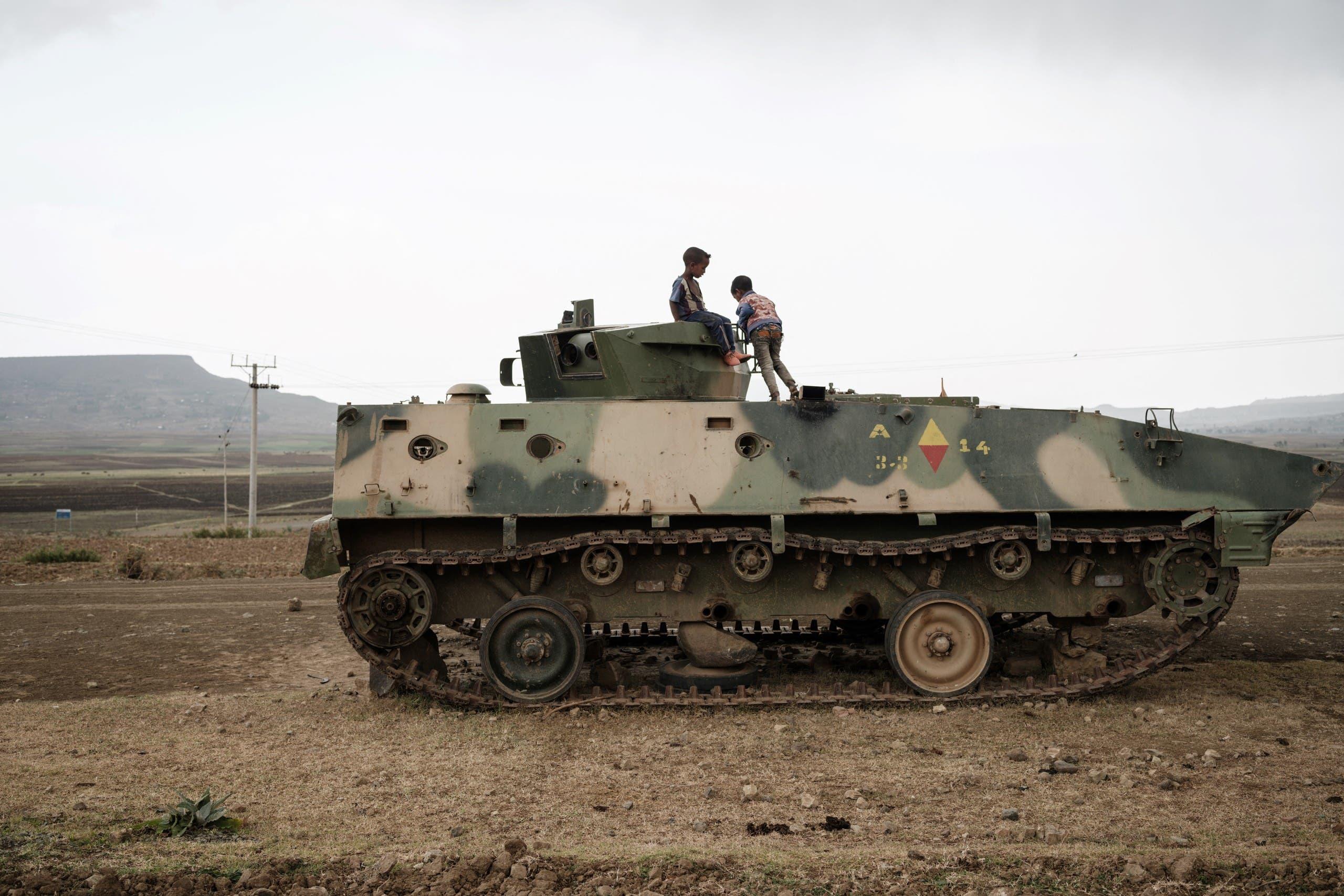 آلية عسكرية تابعة للقوات الإثيوبية