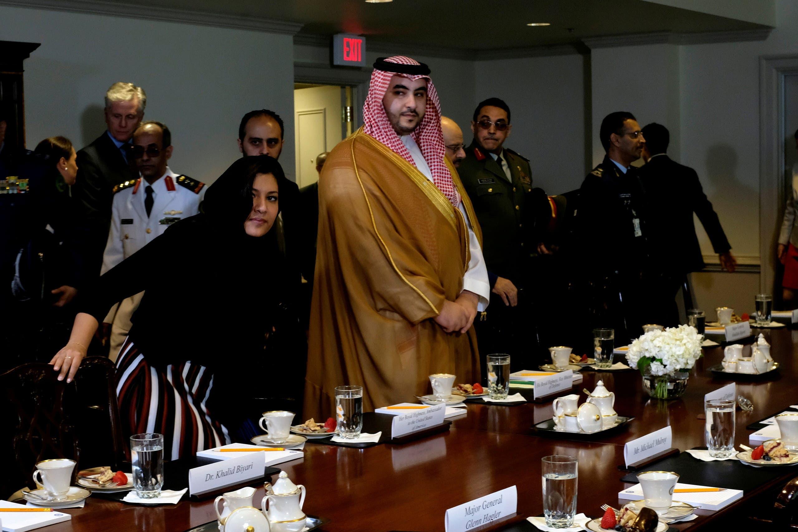 لقاء سابق عقده الأمير خالد بن سلمان في البنتاغون في اغسطس 2019 (أرشيفية)