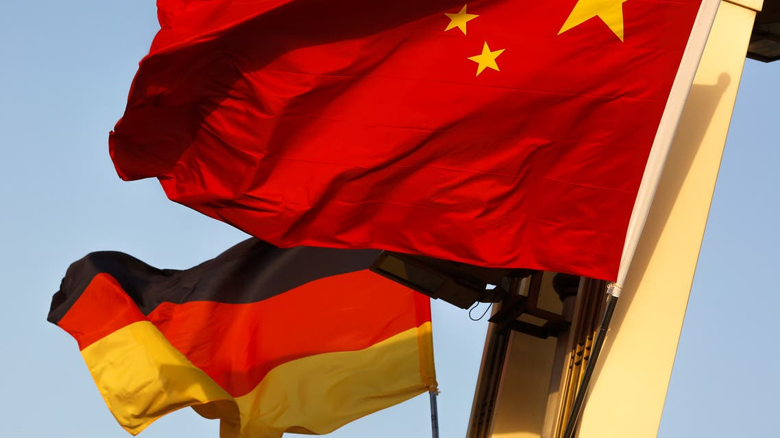 German and Chinese national flags fly in Tiananmen Square ahead of the visit of German Chancellor Angela Merkel in Beijing, China, May 23, 2018. (Reuters)